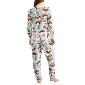 Women's S'Mores Dropseat Pajama Union Suit 1 Piece